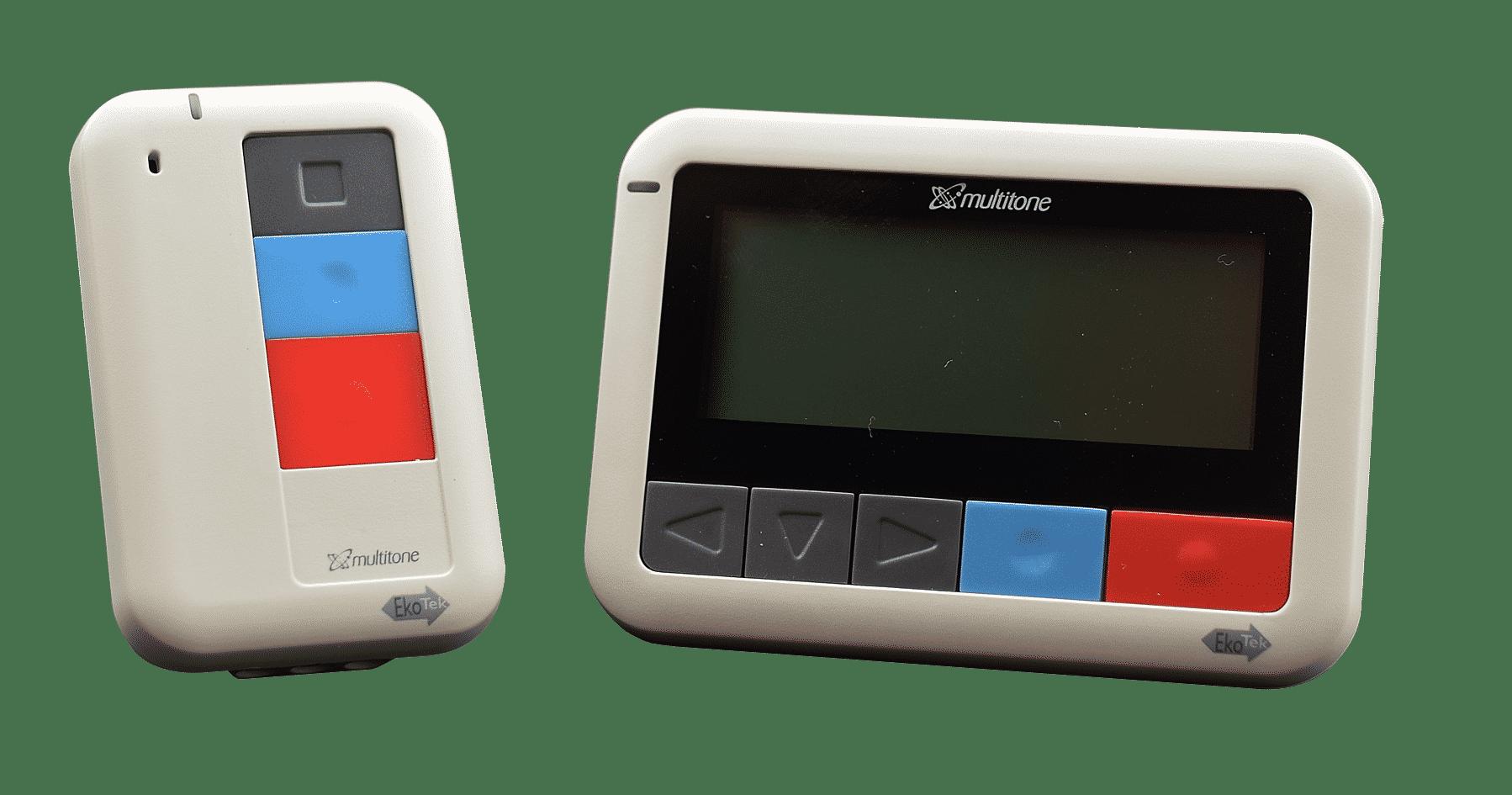 EkoTek Nurse Call button fob & messenger unit